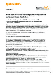 Documentation Réf.CONTINENTAL CT909K2 - Kit de distribution CONTITECH