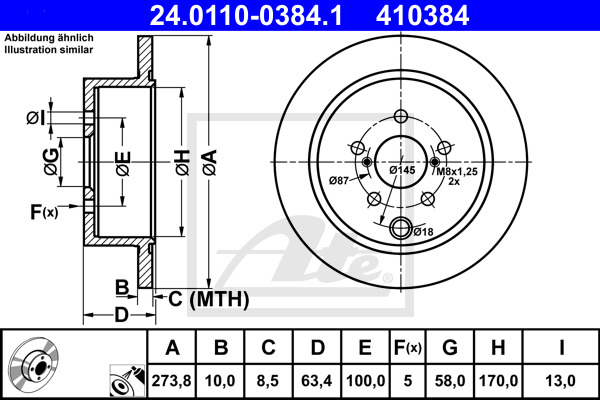 1 Unités TRW df6503 Disque de frein