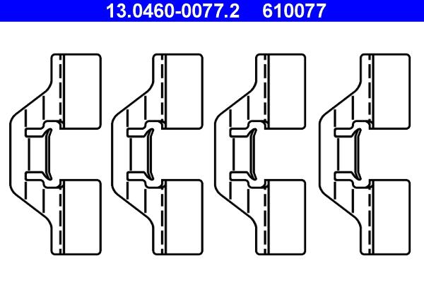 kit d 39 accessoires plaquette de frein disque pour renault megane ii coup cabriolet em 2 0. Black Bedroom Furniture Sets. Home Design Ideas