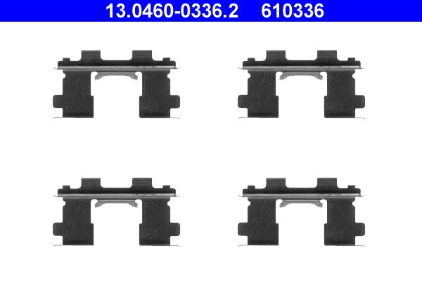 kit d 39 accessoires plaquette de frein disque pour nissan 100nx b13 1 6 sr 102cv wda. Black Bedroom Furniture Sets. Home Design Ideas