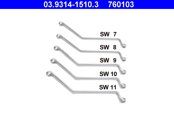 Kit de clés polygonales et de clés à fourches ATE 760103 d'origine