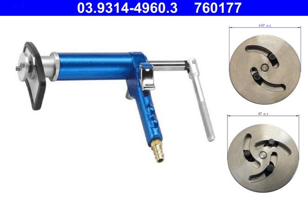 Kit d'outils de rotation/de remise, piston d'étrier de frein ATE 760177 d'origine