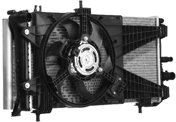 ventilateur refroidissement du moteur pour fiat punto 199 grande 1 2 65cv wda. Black Bedroom Furniture Sets. Home Design Ideas