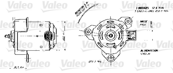 moteur  u00e9lectrique  ventilateur pour radiateurs pour renault kangoo 1 4  kc0c  kc0h  kc0b  kc0m