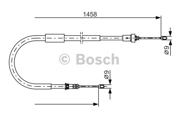 Câble de frein à main BOSCH 1 987 482 335 d'origine