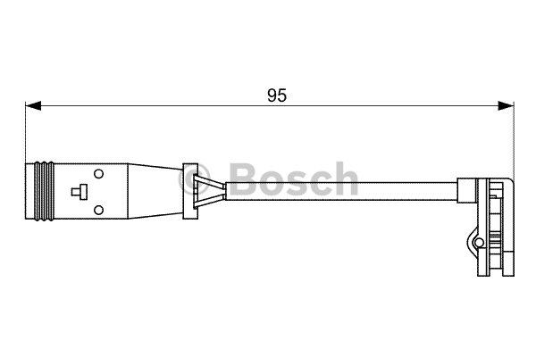 Contact d'avertissement, usure des plaquettes de frein BOSCH 1987473036 d'origine