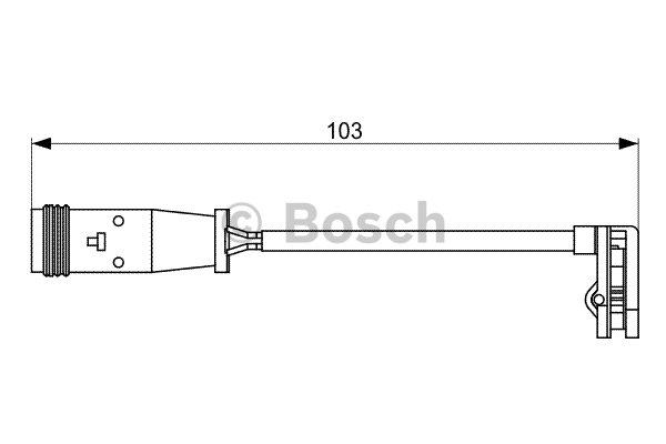 Contact d'avertissement, usure des plaquettes de frein BOSCH 1987473037 d'origine