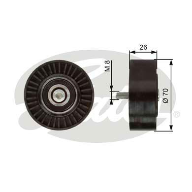 galet enrouleur de courroie d 39 accessoires pour bmw serie 3 e90 330d 231cv wda. Black Bedroom Furniture Sets. Home Design Ideas