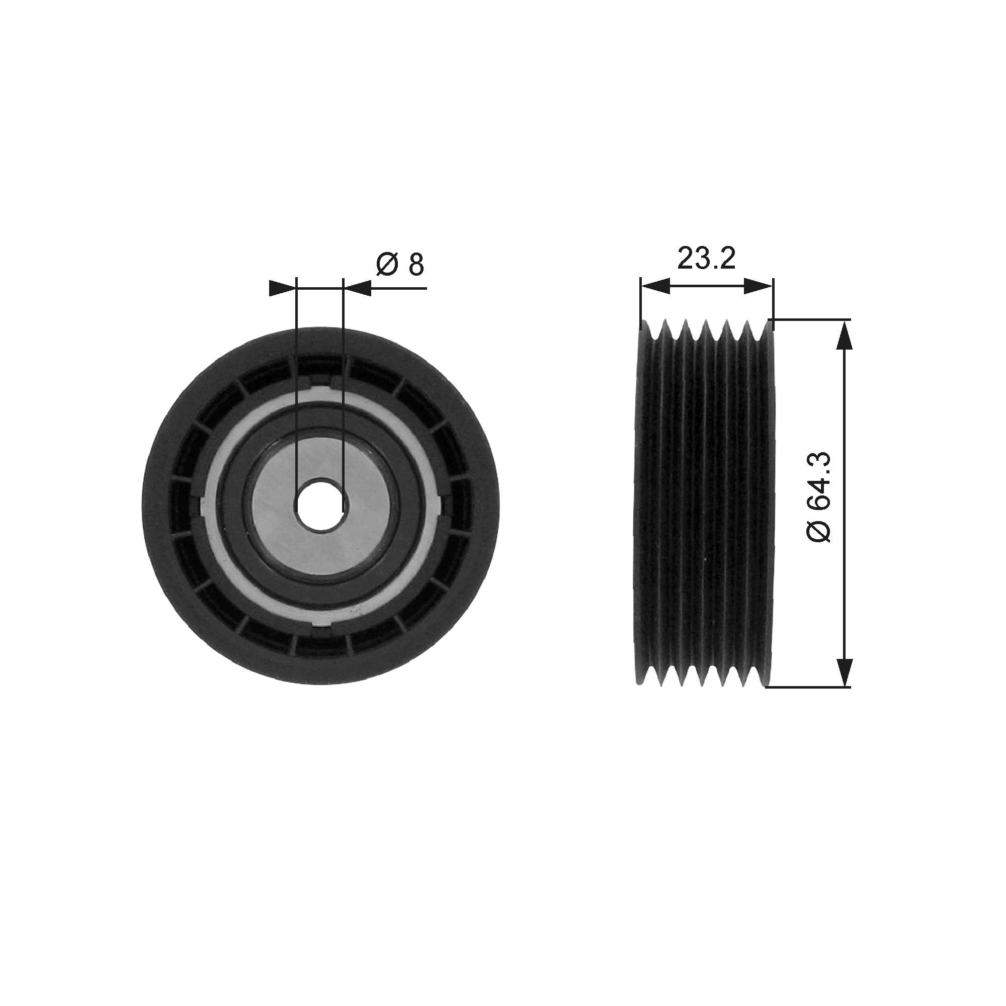 galet enrouleur de courroie d 39 accessoires pour saab 9 3 ys3d 2 0 turbo 154cv wda. Black Bedroom Furniture Sets. Home Design Ideas