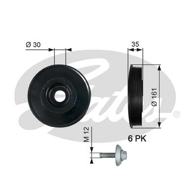 poulie damper pour peugeot 307 1 4 hdi 68cv wda. Black Bedroom Furniture Sets. Home Design Ideas