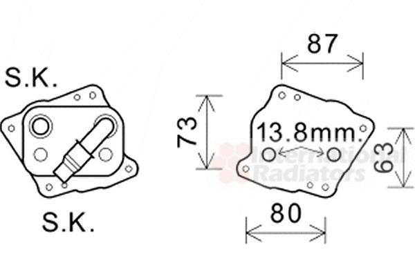 radiateur d u0026 39 huile pour bmw serie 3 coup u00e9  e46  318 ci