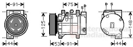 compresseur climatisation van wezel 1300k259 wda. Black Bedroom Furniture Sets. Home Design Ideas