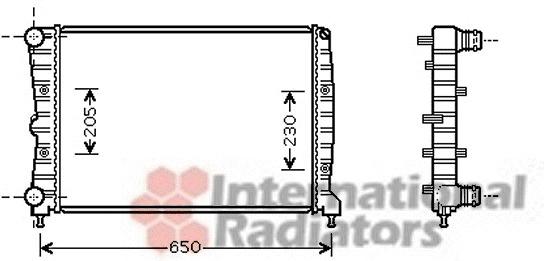 radiateur du moteur pour alfa romeo 147  937  2 0 16v t
