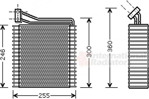 evaporateur climatisation pour chrysler pt cruiser 2 2 crd 150cv