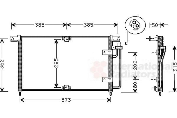 condenseur  climatisation pour ssangyong korando cabrio