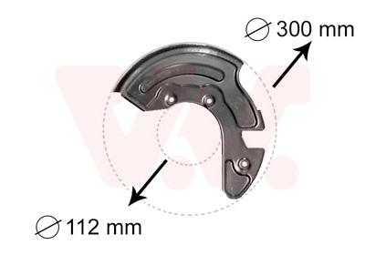 Déflecteur, disque de frein VAN WEZEL 0323372 d'origine