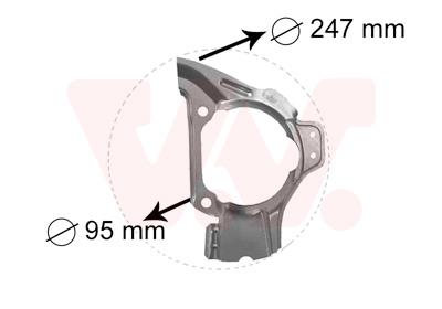Déflecteur, disque de frein VAN WEZEL 1754371 d'origine