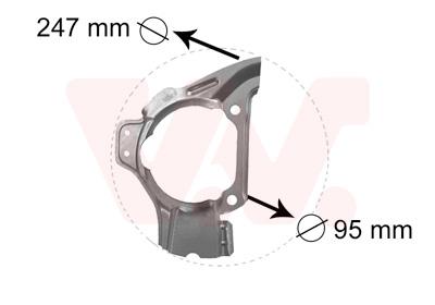Déflecteur, disque de frein VAN WEZEL 1754372 d'origine
