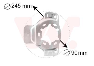 Déflecteur, disque de frein VAN WEZEL 3742371 d'origine