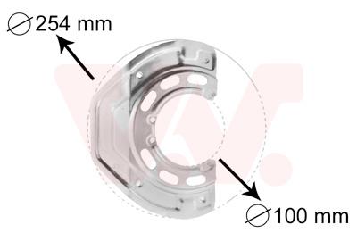Déflecteur, disque de frein VAN WEZEL 3766371 d'origine