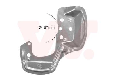 Déflecteur, disque de frein VAN WEZEL 3776371 d'origine