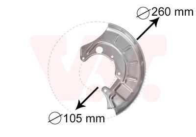 Déflecteur, disque de frein VAN WEZEL 5812371 d'origine