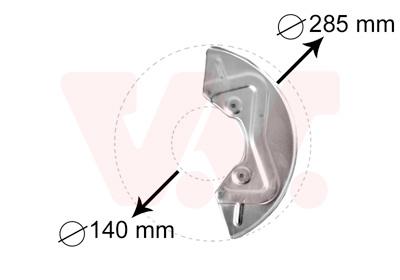 Déflecteur, disque de frein VAN WEZEL 5826371 d'origine