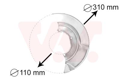 Déflecteur, disque de frein VAN WEZEL 5874371 d'origine