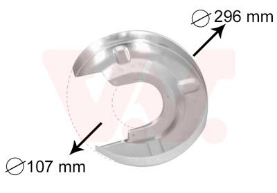 Déflecteur, disque de frein VAN WEZEL 5874373 d'origine