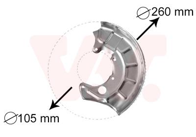 Déflecteur, disque de frein VAN WEZEL 5880371 d'origine