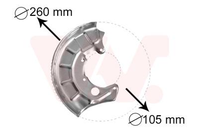 Déflecteur, disque de frein VAN WEZEL 5880372 d'origine