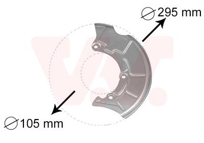 Déflecteur, disque de frein VAN WEZEL 5888371 d'origine
