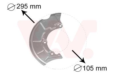 Déflecteur, disque de frein VAN WEZEL 5888372 d'origine