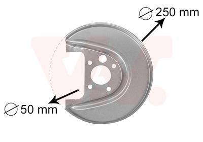 Déflecteur, disque de frein VAN WEZEL 5888374 d'origine