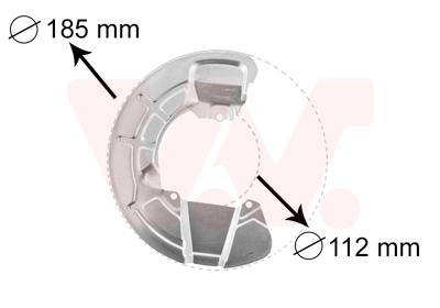 Déflecteur, disque de frein VAN WEZEL 5930371 d'origine
