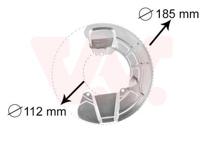 Déflecteur, disque de frein VAN WEZEL 5930372 d'origine