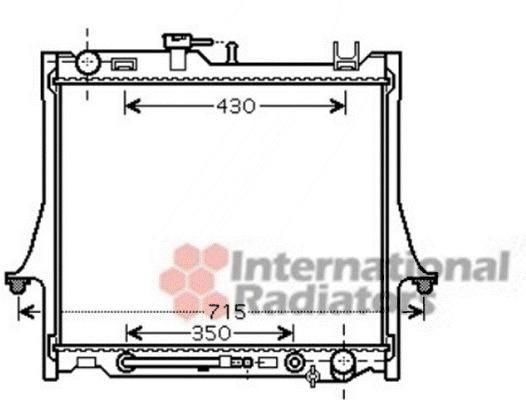 radiateur du moteur pour isuzu d-max 3 0 ditd 4x4 131cv