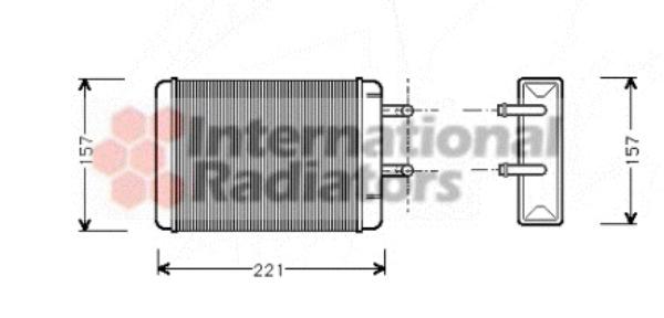 radiateur de chauffage pour opel kadett c coup u00e9 1 9 gt  e