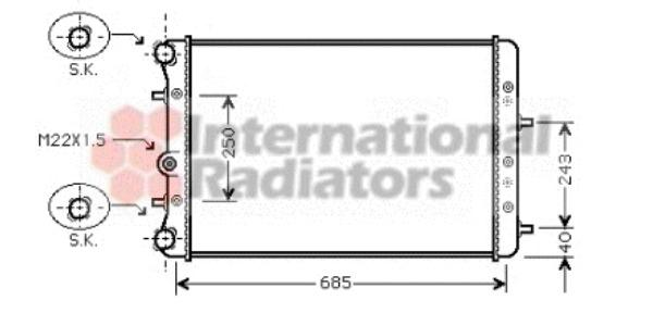 radiateur du moteur pour skoda fabia i  6y2  1 4 68cv