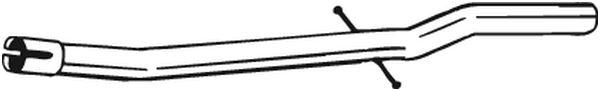 tube de r paration catalyseur bosal 889949 wda. Black Bedroom Furniture Sets. Home Design Ideas