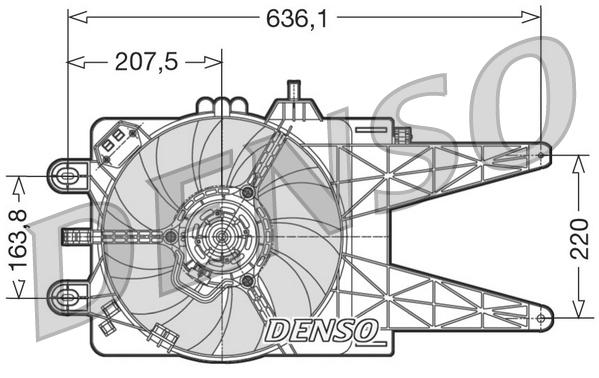 ventilateur  refroidissement du moteur pour fiat punto  188  1 2 60  188 030   050   130   150