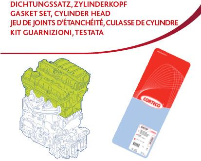 Kit d'outils de rodage, siège de soupape CORTECO 417069P d'origine