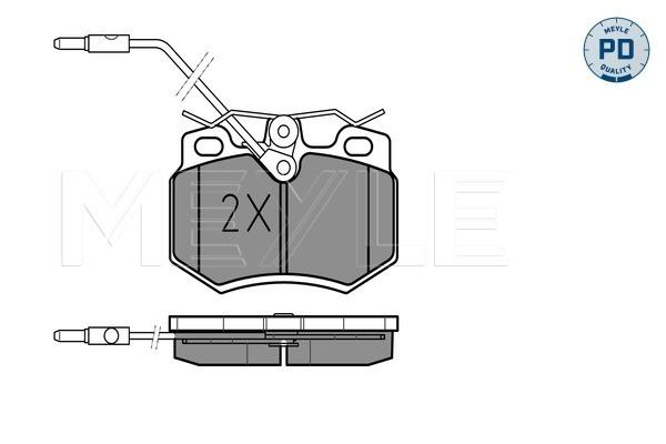 4x TRW Plaquettes de Frein Avant Pour CITROEN ZX GDB790