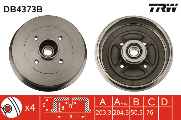 tambour de frein unitaire pour renault clio ii soci t 1 5 dci 68cv wda. Black Bedroom Furniture Sets. Home Design Ideas