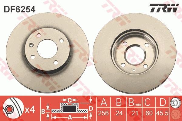 Bosch Disque de frein 0986479a54 pour CHEVROLET