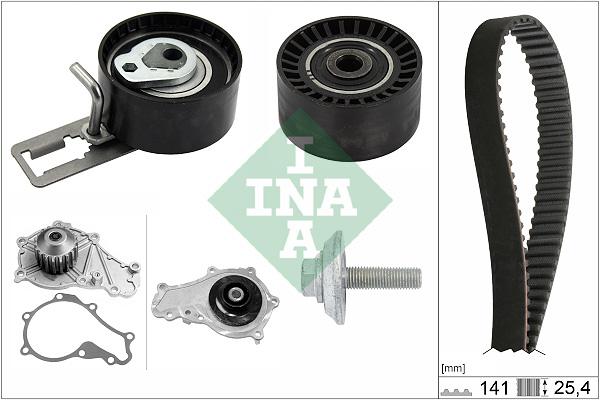 pompe eau kit de courroie de distribution pour ford fiesta vi 1 6 tdci 95cv wda. Black Bedroom Furniture Sets. Home Design Ideas