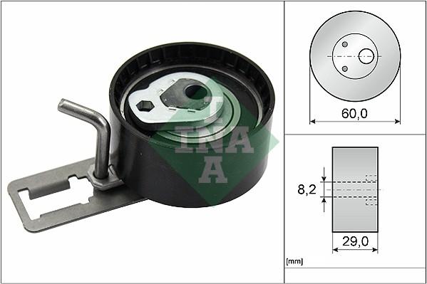 galet tendeur de courroie de distribution pour citro n c4 picasso 1 6 hdi 115 114cv wda. Black Bedroom Furniture Sets. Home Design Ideas