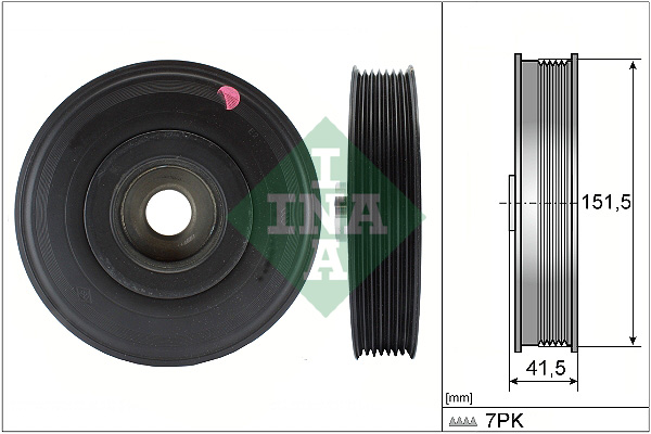 poulie damper pour renault megane ii 1 9 dci bm0g cm0g 120cv wda. Black Bedroom Furniture Sets. Home Design Ideas