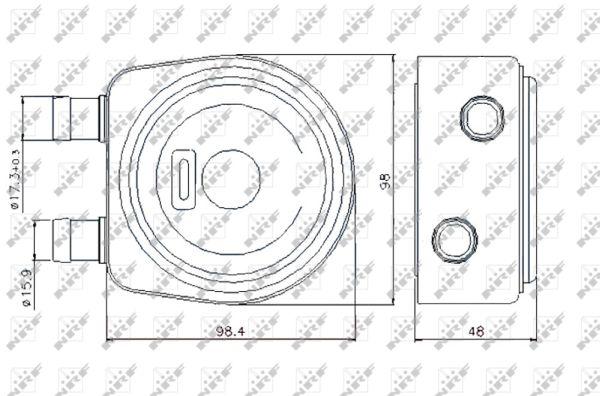 radiateur d u0026 39 huile pour renault scenic ii 1 9 dci 131cv