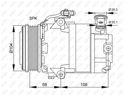 compresseur climatisation nrf 32082g wda. Black Bedroom Furniture Sets. Home Design Ideas